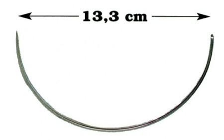Aguja sutura Hauptner 13,3 cm para coser con la mano