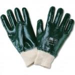 Robustos guantes de trabajo de nitrilo con puño. Muy buena resistencia a la abrasión y al desgarro. Repele la grasa y el aceite. Según norma 4211. Venta por par.