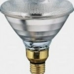 Lámpara de calefacción infrarroja Blanca 175W.