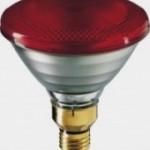 Lámpara Philips de calefacción infrarroja Roja 100W.