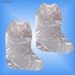 Calzas desechables altas de plástico, con elástico en la parte superior