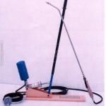 Encaladora manual completa, lanza de acero inoxidable y boquilla cerámica. Manguera de 8 metros