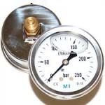 Manómetro con salida trasera para hidrolimpiadoras de alta presión