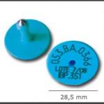 Crotal macho ref. 511 de plástico con punta metálica de acero. Diferentes colores.