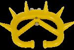 Narigón antimama de plástico con palomilla para ajuste.