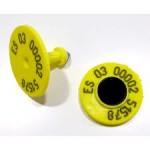 Crotal redondo Allflex con microchip interno para identificación electrónica de los animales. Apto también para máquinas de alimentación.