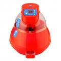 Incubadora equipada con termostato electrónico regulable digital de precisión. Construida en material plástico de doble aislamiento de gran calidad.